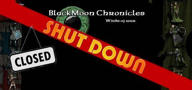 BlackMoon Chronicles - logo 640 shut down