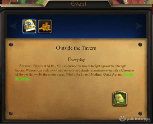 Outside the Tavern (one of Heroes' Tests)