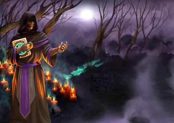 Grepolis cultist npc interstitial illustration Halloween - Grepolis Free to Play Cross-Platform MMORTS