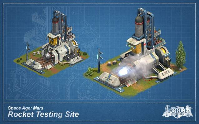 Forge of Empires Mars Rocket Testing Site