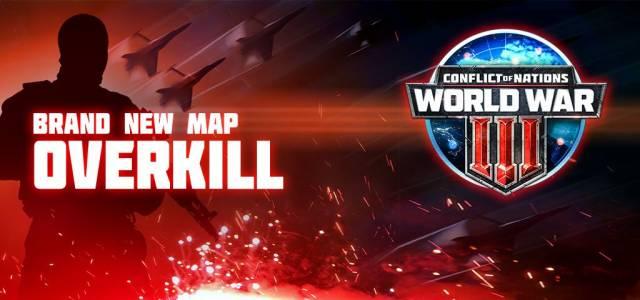 Conflict of Nations World War 3 Overkill 128 Spieler Karte