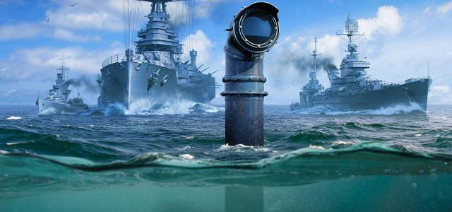 In World of Warships tauchen jetzt auch U-Boote - Submarines annoucement periscope