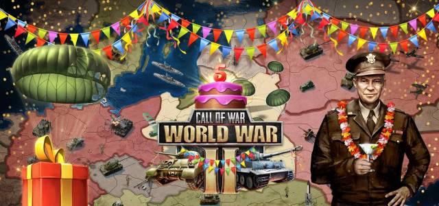 Call of War Jubiläumsgeschenk und Event hier auf GratisMMORPG