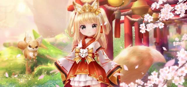 Twin Saga feiert das Kirschblütenfest