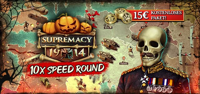 Halloween in Supremacy 1914 und Swift Strike-Event pro gefeiertem Halloween